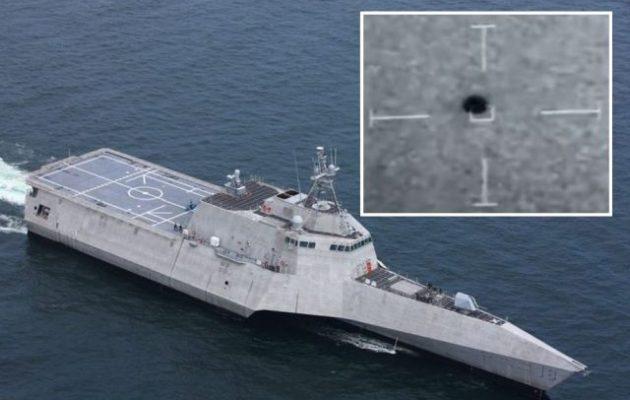 Είναι επίσημο: Σφαιρικό UFO βιντεοσκοπήθηκε από το πολεμικό πλοίο USS Omaha (βίντεο)