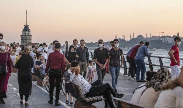 Λιγότερα από 20.000 τα ημερήσια κρούσματα στην Τουρκία