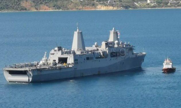 Το «θηρίο» ελικοπτεροφόρο «USS Iwo Jima» στη Σούδα