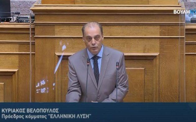 Βελόπουλος: Απλή επιδημία ο κορωνοϊός αφού δεν πεθαίνει κόσμος στο δρόμο