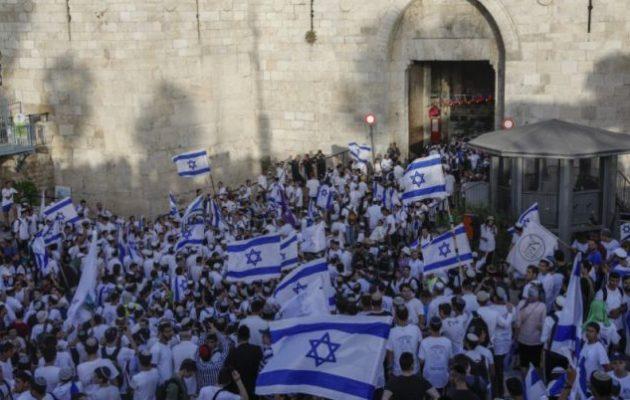 Στις 18.30 η Πορεία των Σημαιών στην Ιερουσαλήμ – Με «ημέρα οργής» απαντούν οι Παλαιστίνιοι