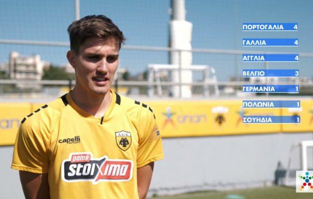 Γκολ στο Ευρωπαϊκό με τον ΟΠΑΠ – Οι παίκτες της ΑΕΚ επιλέγουν τον νικητή  (βίντεο)