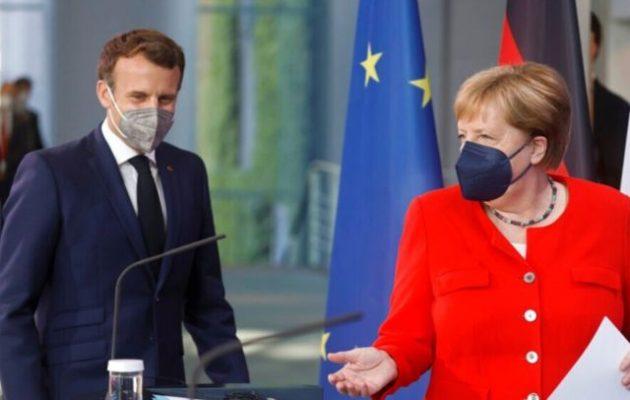 Μέρκελ και Μακρόν συζήτησαν όλα τα θέματα – Ο Γάλλος «σκληρά» υπέρ Ελλάδας και Κύπρου