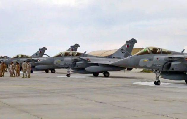 Το Κατάρ έστειλε 4 Rafale σε τουρκική άσκηση για να μάθουν οι Τούρκοι πιλότοι τι θα αντιμετωπίσουν