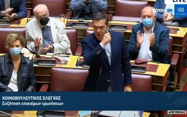 Τσίπρας: Οι τράπεζες έχουν στο χέρι τη ΝΔ γιατί χρωστάει 340 εκατ. – Ένταση στη Βουλή (βίντεο)