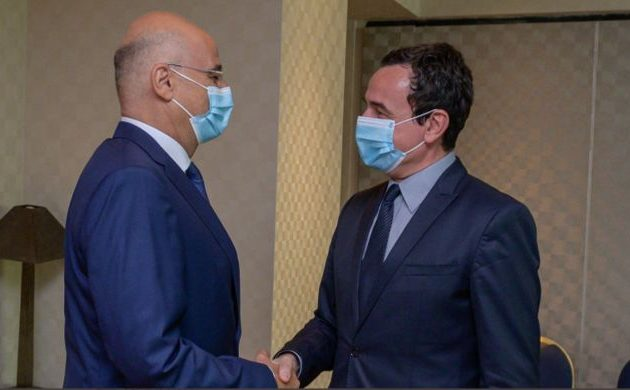 Ο Νίκος Δένδιας συναντήθηκε με τον πρωθυπουργό του Κοσσυφοπεδίου