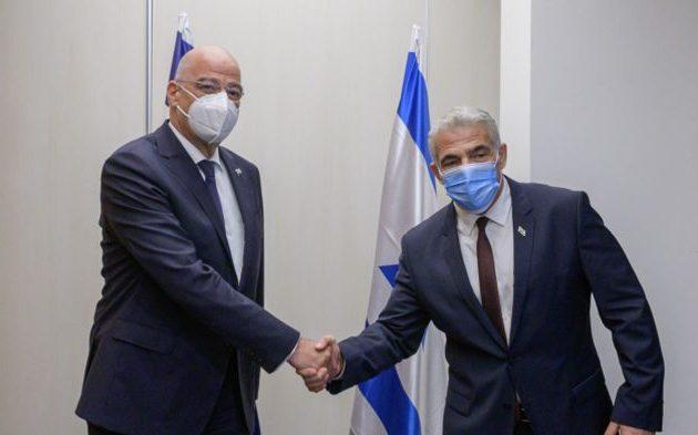 Δένδιας: Ευθεία συνεννόηση Ελλάδας-Ισραήλ για την επιβολή της διεθνούς νομιμότητας στην Αν. Μεσόγειο