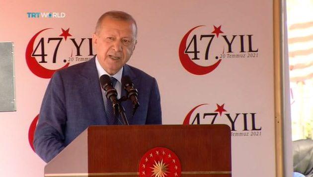 Ο Ερντογάν «τελειώνει» το Κυπριακό: «Συνομιλίες μόνο μεταξύ δύο κρατών»