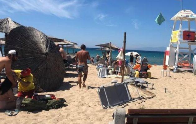 Χαλικιδική: Ανεμοστρόβιλος χτύπησε παραλία – Τραυματίστηκαν λουόμενοι