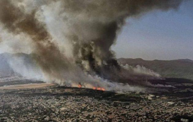 Πώς κάηκε η Βαρυμπόμπη χωρίς να φυσά με μόλις 2 μποφόρ