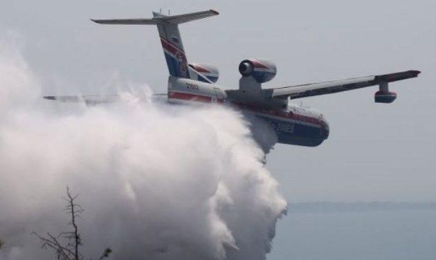 Το πυροσβεστικό Beriev έχασε τον ένα κινητήρα του εν πτήσει – Καθηλωμένο στην Ελευσίνα