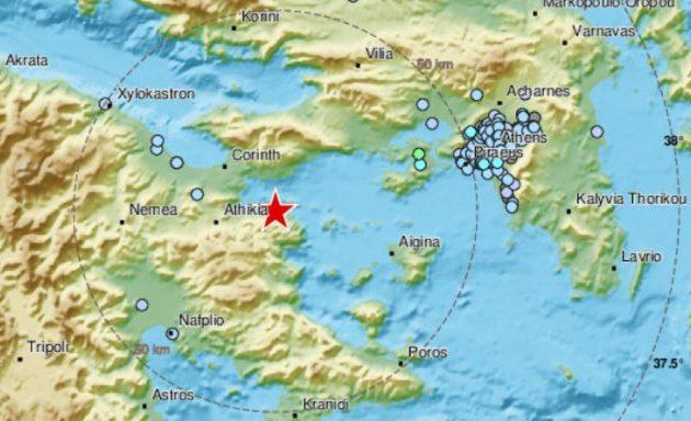 Σεισμός στην Κόρινθο αισθητός και στην Αθήνα