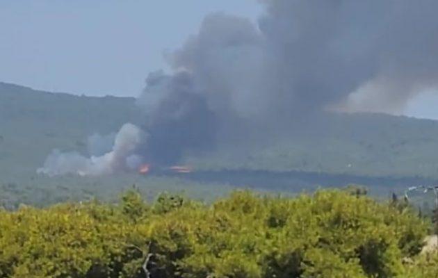 Καίγονται τα «βασιλικά» κτήματα στη Βαρυμπόμπη