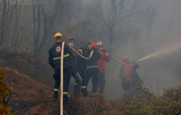 Βιβλική καταστροφή στην περιοχή της Βαρυμπόμπης – Κάηκαν σπίτια και περιουσίες