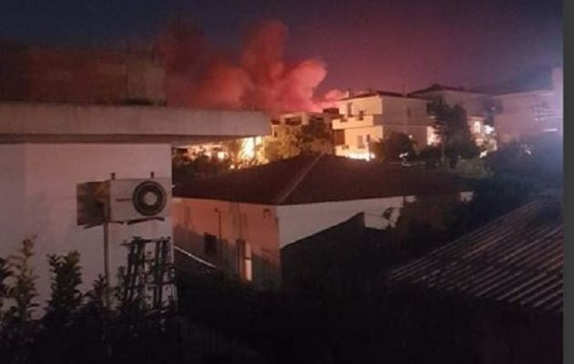 Φωτιά στη Νέα Μάκρη: Δίπλα σε σπίτια οι φλόγες – Πληροφορίες για εκκένωση