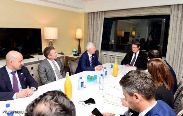 Με αντιπροσωπεία της ExxonMobil συναντήθηκε στη Νέα Υόρκη ο Αναστασιάδης