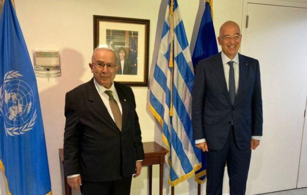 Για το Σαχέλ και τη Λιβύη συζήτησαν Δένδιας και ΥΠΕΞ Αλγερίας