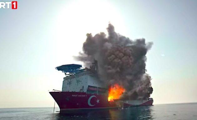 Τουρκικό γεωτρύπανο στην Αν. Μεσόγειο ανατινάζεται σε τουρκικό σίριαλ -Το σενάριο είναι της MİT