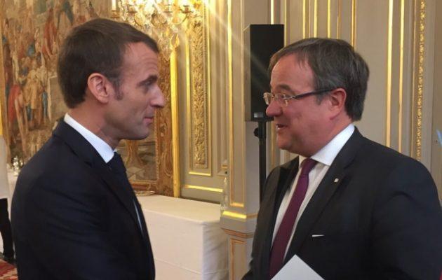 O Mακρόν συναντήθηκε με τον υποψήφιο διάδοχο της Μέρκελ – Τι προσδοκά η Γαλλία