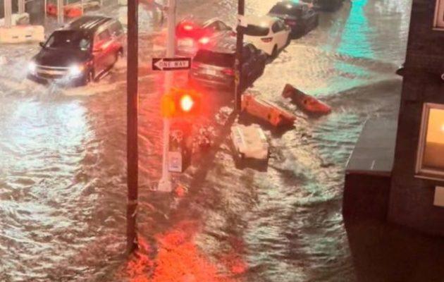 Κατακλυσμός στη Νέα Υόρκη – Πλημμύρα ιστορικών διαστάσεων (βίντεο)