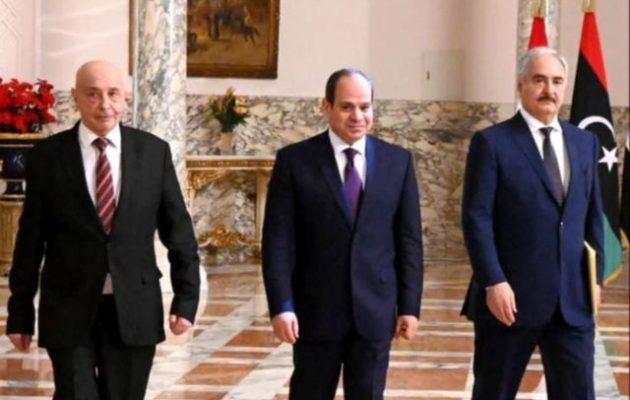Ακίλα Σάλεχ και στρατάρχης Χάφταρ συναντήθηκαν με τον πρόεδρο Αλ Σίσι της Αιγύπτου