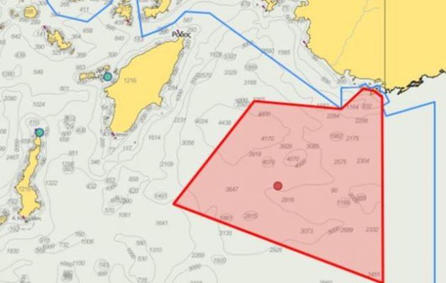 Νέα πρόκληση: «Τουρκικής δικαιοδοσίας» οι θαλάσσιες περιοχές στο Καστελλόριζο