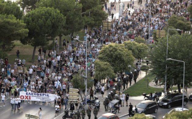 Εφιάλτης οι αντιεμβολιαστές για την Αστυνομία – Ανησυχούν για μεγάλη διαδήλωση στη ΔΕΘ