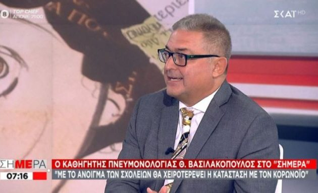 Θοδωρής Βασιλακόπουλος: Δεν θα υπάρξει ασφάλεια όταν ανοίξουν τα σχολεία