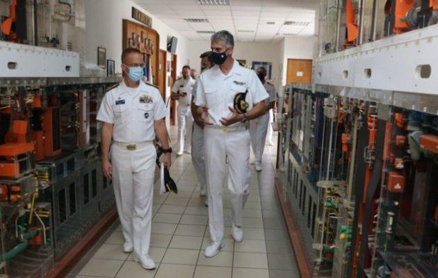Ο διοικητής υποβρυχίων του ΝΑΤΟ στο ΓΕΝ και το Αρχηγείο Στόλου