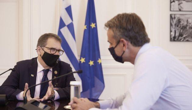 O Mητσοτάκης συναντήθηκε με τον Ελληνοαμερικανό βουλευτή Γκας Μπιλιράκη