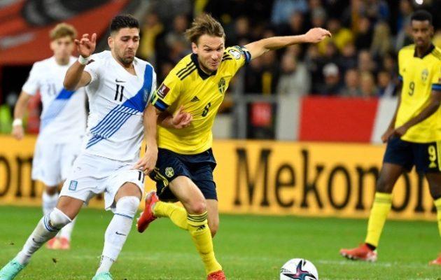 Εξανεμίζονται οι ελπίδες για πρόκριση της Εθνικής Ελλάδας μετά την ήττα 2-0 από τη Σουηδία